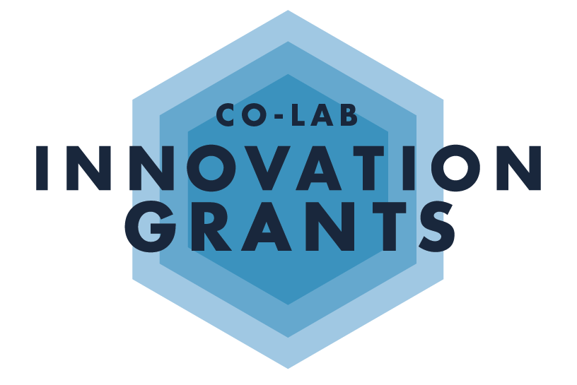Co-Lab grants project logo, again with hexagons